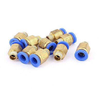 H● 10Pcs 9.5mm 1/8B to 8mm Hose Air Pneumatic Coupler Fitting Pipe Connector