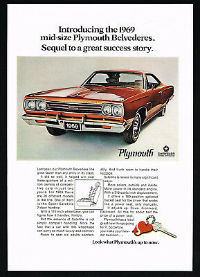 1969 Plymouth Belvedere Car Photo Success Story Vintage Print Ad