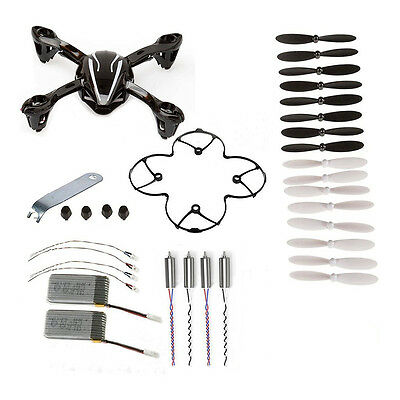 For Hubsan X4 H107L 8-in-1 Quadcopter Black Spare Parts Crash Pack