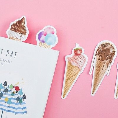 30pcs/Box Ice Cream Style Bookmark Book Mark Magazine Note Label Memo School