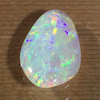 Australian White Opal Shell. Solid natural POLISHED GEMSTONE by Smart Opals