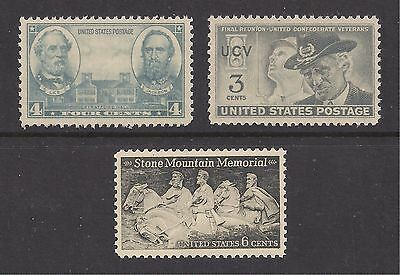 U.s. Civil War Stamps - Lee & Jackson, Stone Mountain, Csa Vets - Mint Condition