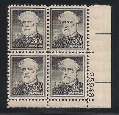 1954 - Robert E Lee - Confederate General - Block Of 4 Stamps - Mint Condition