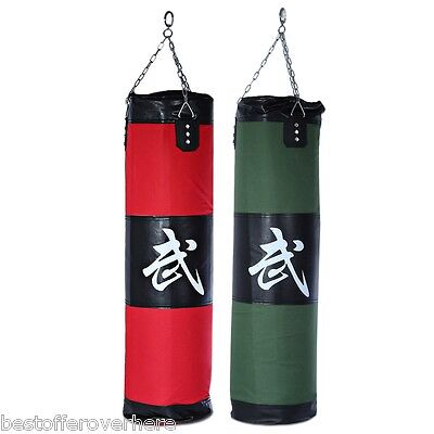 Zooboo 100CM Empty Punching Bag with Chain Martial Arts Boxing Training Sandbag