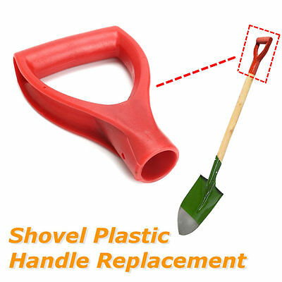 Plastic Scoop Poly D Grip Handle Lawn Farm Snow Removal Spade Fork Shovel Red