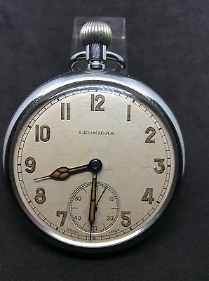 Leonidas WWII military Working Pocket Watch GS/TP