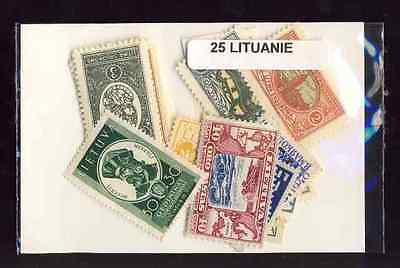 Lituanie avant 1940 - Lithuania before 1940 25 timbres différents