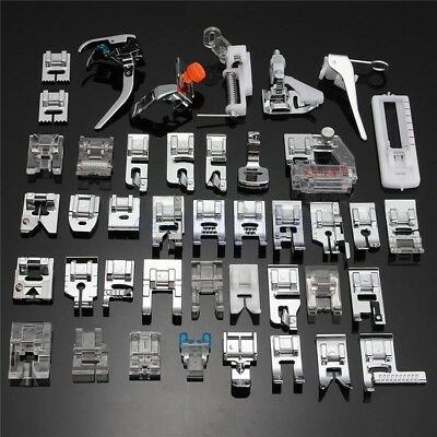 42 Pcs Domestic Presser Foot Sewing Machine Part Tool Kit For Brother Singer EW