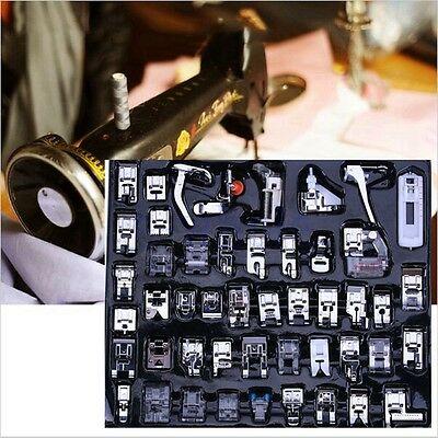 48 PCS Useful Domestic Sewing Machine Presser Foot Feet Kit Set Household EW