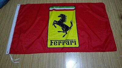 F1 Ferrari Cars Banner Flag 3X5 FT Racing Man Cave Motorsport Red Sign Formula 1
