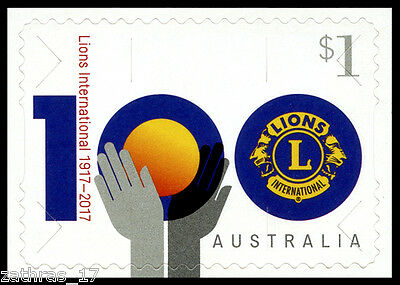2017 Centenary of Lions Clubs International Stamp Booklet Stamp - MUH