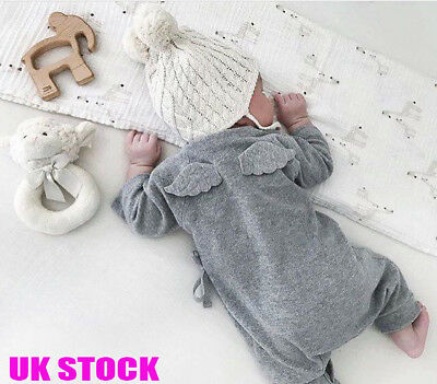 UK New Kids Baby Clothes Girl Boy Romper Cute Wigs Jumpsuit Playsuit Outfits