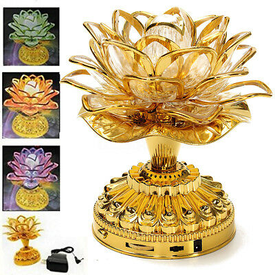 Buddhist Prayer Lamp with 36 Kinds Buddhist Songs LED Lotus Flower With Plug