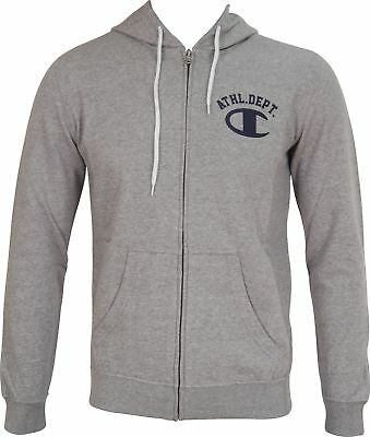 Champion Heritage Mens Full Zip Hooded Sweatshirt - Grey