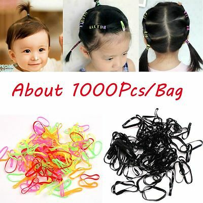 Children Baby Girls TPU Rubber Hair Elastics Bands About 1000 Pcs / Pack