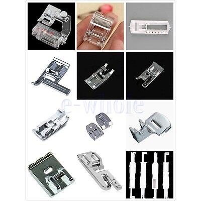 Domestic Sewing Machine Presser Foot Feet Kit Set For Janome Brother Singer EW