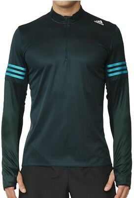 adidas Response Half Zip Mens Long Sleeve Running Top - Green