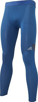 adidas Tech-Fit Cool Mens Compression Long Tights - Blue
