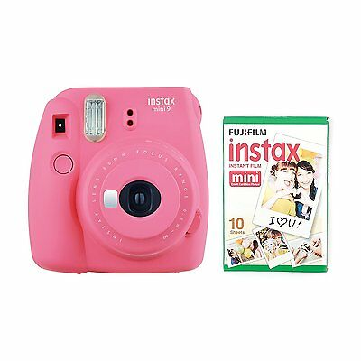 FUJIFILM Instax Mini 9 Instant Camera with 10 Shots - Pink - Christmas Gift Idea