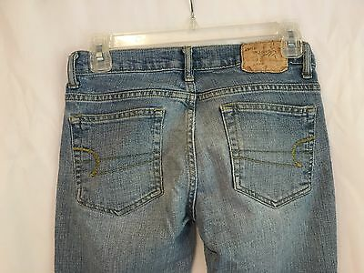 AMERICAN EAGLE Jeans Size 0 Light/Medium Wash Distressed Faded Boot Cut 28x31