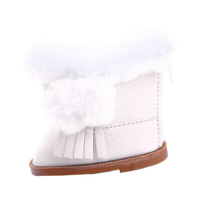 Snow Boots Shoes Accessory for 18'' American Girl Our Generation Doll White