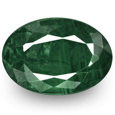 1.63-Carat Deep Green Indian Alexandrite with Very Strong Color-Change Effect
