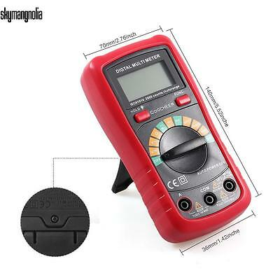 Profi Digital Multimeter AC DC Spannung Strom Messgerät LCD Display mit Batterie