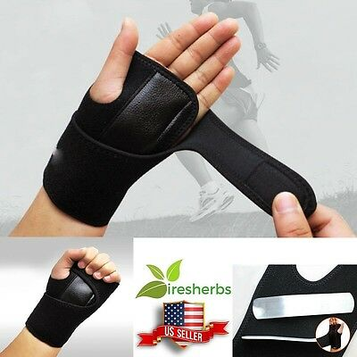 Left Wrist Brace Beige Support Brace / Carpal Tunnel Hand Splint RSI Sprain Pain