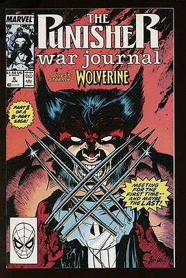 THE PUNISHER WAR JOURNAL #6 NM 1989 WOLVERINE APPEARANCE MARVEL bin-2017-0674