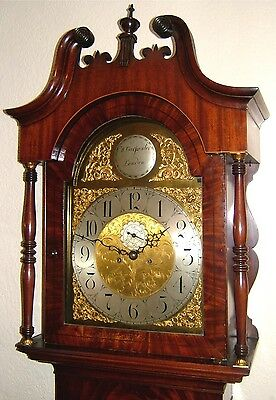 "A fine Victorian Mahogany & Inlaid ""London"" Longcase Clock C1890"