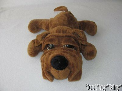 "Russ Brown Puppy Dog Bulldog Berrie Peepers 14"" Plush Stuffed Shar Pei Toy 21684"