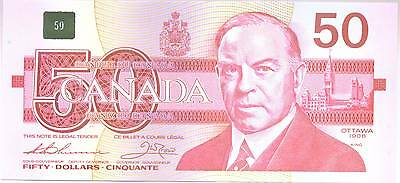 1988 Canada BC-59aA $50 Fifty Dollar Note EHX3790522 Uncirculated UNC