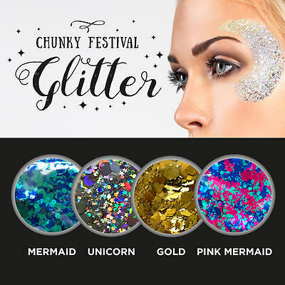 10g Mixed Flake Chunky Glitter Nail Face Eye Shadow Tattoo Festival Body Dance