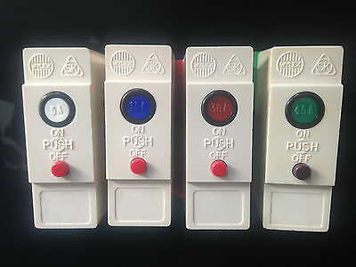 Wylex Plug In Mcb Circuit Breaker Fuse 5A 15A 20A 30A 45A With Or Without Base