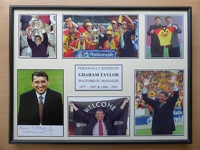 Graham Taylor Signed Watford Multi Picture Career Display (11434)
