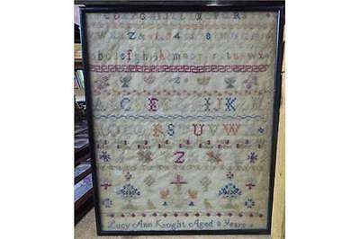 A Framed Beautiful Early 1800's Sampler