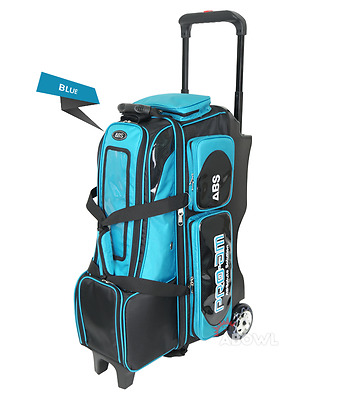 ABS Premium Silent Roller Bowling Bag 4-Ball Pocket Blue Color Authentic