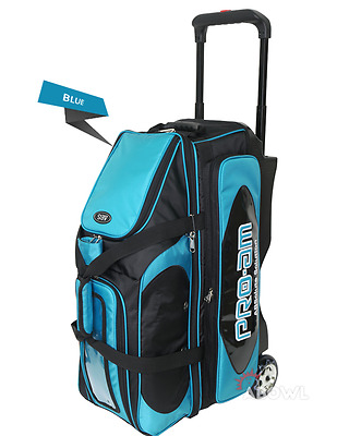ABS Premium Silent Roller Bowling Bag 3-Ball Pocket Blue Color Authentic