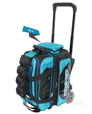 ABS Premium Silent Roller Bowling Bag 2-Ball Pocket Blue Color Authentic
