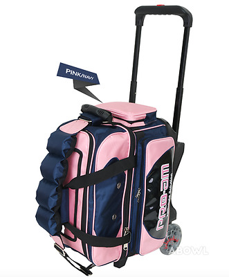ABS Premium Silent Roller Bowling Bag 2-Ball Pocket Pink Color Authentic