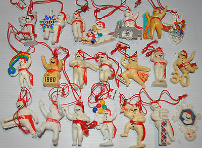 - lot of 21 different BONHOMME CARNAVAL Quebec Snow Carnival Effigy -