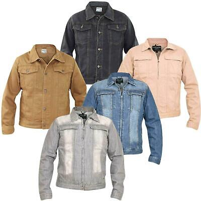 Mens Denim Jackets Regular Fit Chest Pocket Cotton Summer Button Casual Top