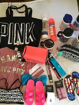 Victoria's Secret PINK Wholesale Lot Water Bottle Mug Slides Socks Bralette Tee