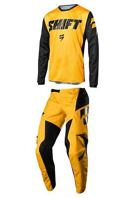 2018 Shift YOUTH WHIT3 Ninety Seven Gear Combo Motocross White Yellow