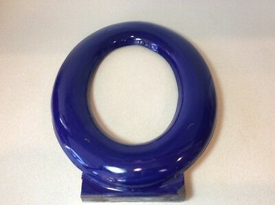 "Vintage Large Porcelain Enamel Metal Sign Letter ""o""  16"" Tall Purple~Blue Wall"
