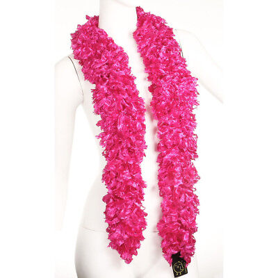 Faux Hot Pink Featherless Boa (6', 185 grams)