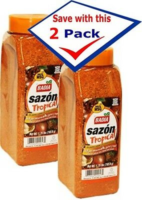 Badia Sazon Tropical Seasoning with Annatto and Coriander, 1.75lb  (Pack of 2)
