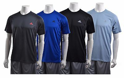 Adidas Climalite Mens SS Polyester CST Crew Moisture-Wicking Performance T-Shirt