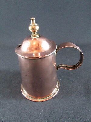 Lidded Copper Chocolate Cup Pot c.1820-40