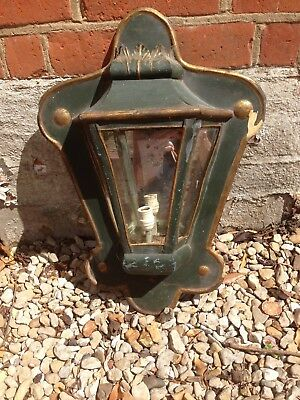 19th Century Tin With Mirrored Back Wall Light